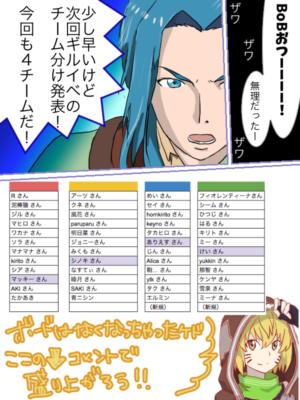 2017年7月下旬ギルドイベント ギルド内チーム戦 チーム分け発表!!